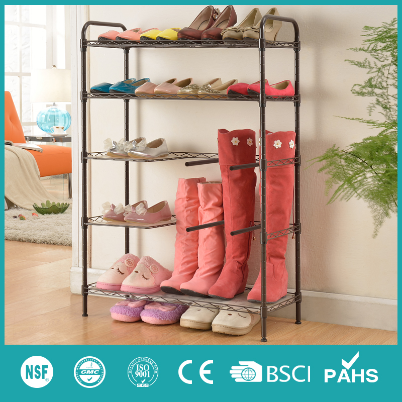 XM_422B metal fittings shoe rack display for boots
