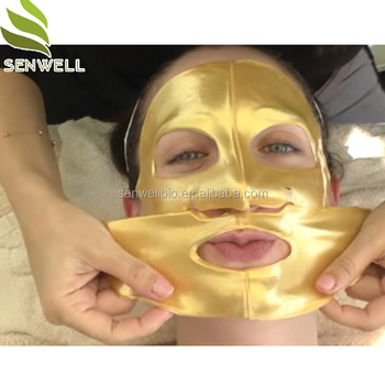 Wholesale Collagen Crystal 24K gold facial mask sheet Manufacture