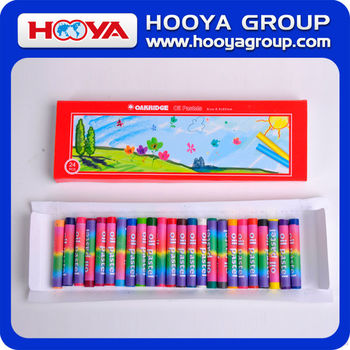 24pcs promotion stationery wholesale for kids color oil pastel crayon