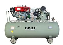 New design hot sales durable heavy duty 32cfm 10 hp 1.25 mpa diesel air compressor 500L