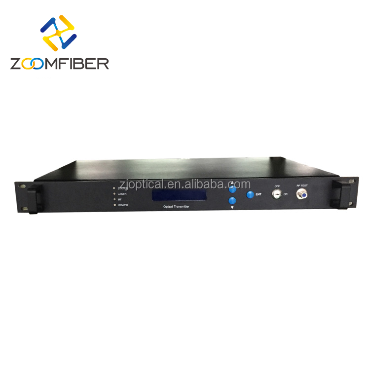 9dB HD-SDI Video Analog Digital TV Signal RF Wireless CATV Laser 1550nm Fiber Optical Transmitter and Receiver FTTH Network