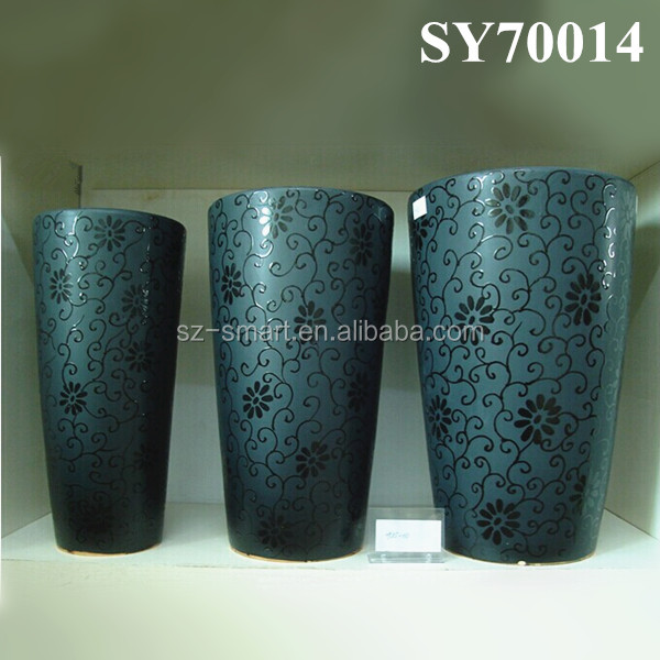pot for sale elegant tall outdoor glazed ceramic planter