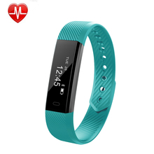 Touch Screen Bluetooth Fitness Tracker heart rate watch ID 115 HR Wristband IP67 Waterproof Smart Bands for iPhone and Samsung