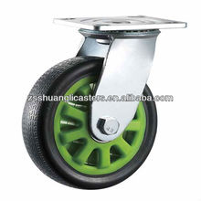 heavy duty ball bearing flame pu fixed container wheels