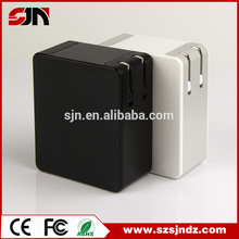Factory supply 5v 2a dual usb wall charger with fold plug