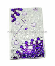 2014 the most elegant folio leather Case with Diamond for New Samsung Galaxy Tab 3 Tab 2 & Note
