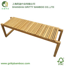 Comfortable Bamboo Outdoor Garden bench two seats