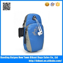 Wholesale cheap waterproof nylon running phone bag/case sport outdoor fashion arm bag fro men and women