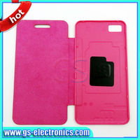 Leather case for Blackberry Z10 flip cover