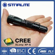 Police pocket mini high power 1 watt flashlight/torch