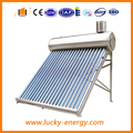 compact low pressure solar water heater with water tank
