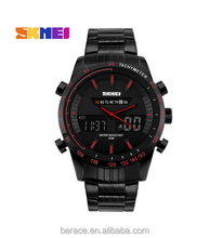 China suppliers Skmei Chronograph Analogue Digital Sport watch Red Dial Watch For Men