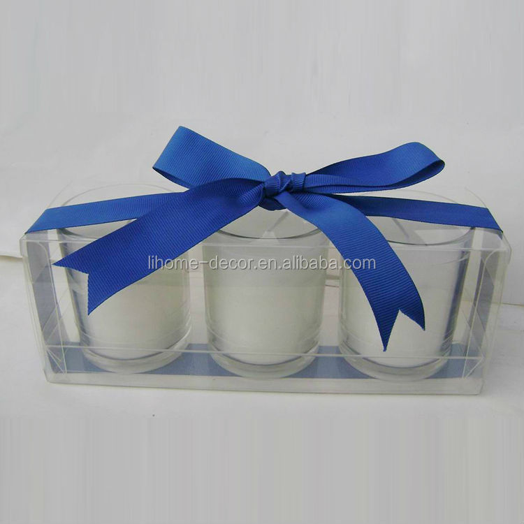 Shenzhen lihome factory promotion scented soy candle,3pcs/set