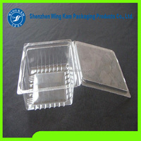 food-grade and clear plastic blister packaging clamshell containers for cupcake bread clamshell packaging