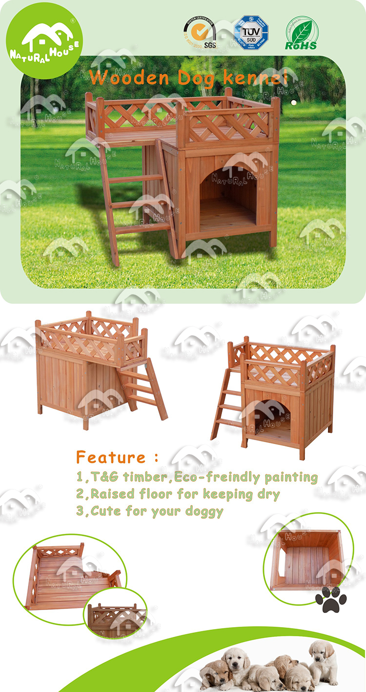 Wooden Dog house,cheap dog houses-DH-074