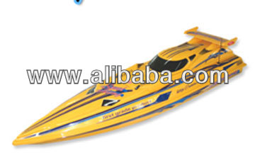 "36"" 1:16 Scale R/C High Performance Racing Boat With 380 Motor BXC Yellow"