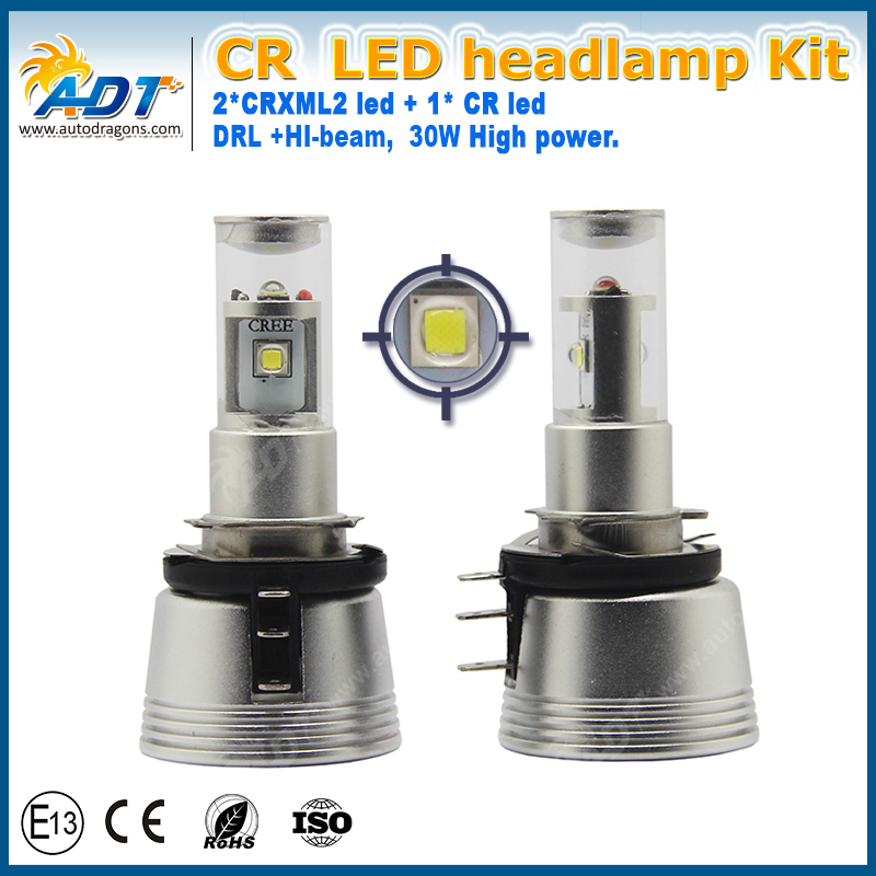 H15 LED Headlight Easy Install Canbus No Error Free High Beam Daytime Running Light DRL Head Lamp for Audi Mercedes VW Golf GLA