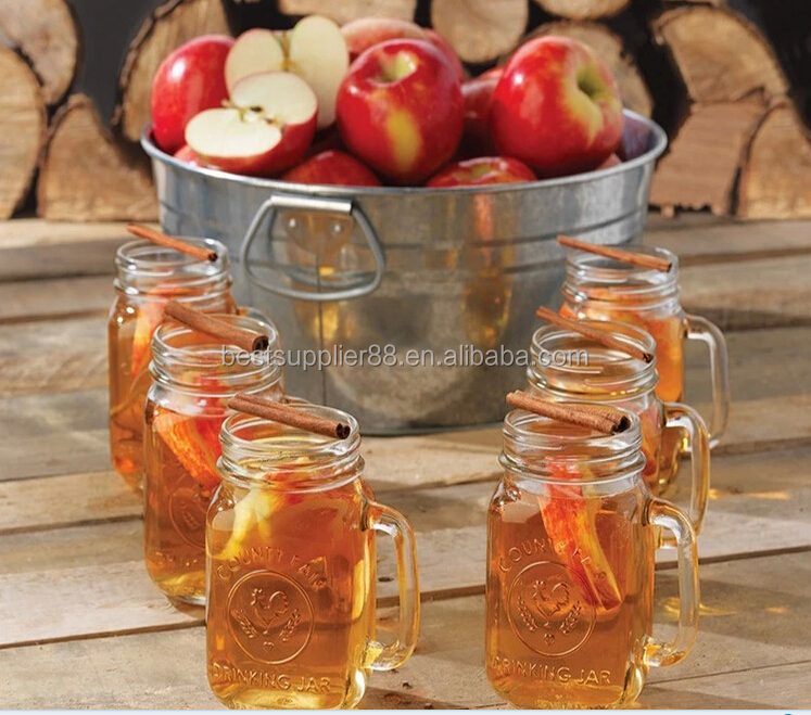 450ml 16oz Glass Mason jar with handle