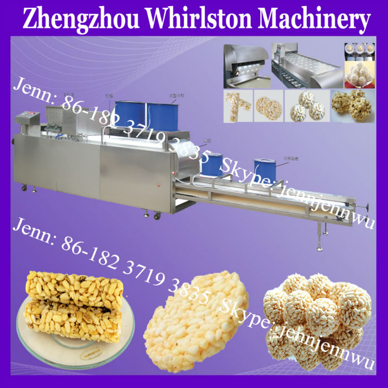 puffed rice bar machinery/popped wheat snack maker/corn puffing machine