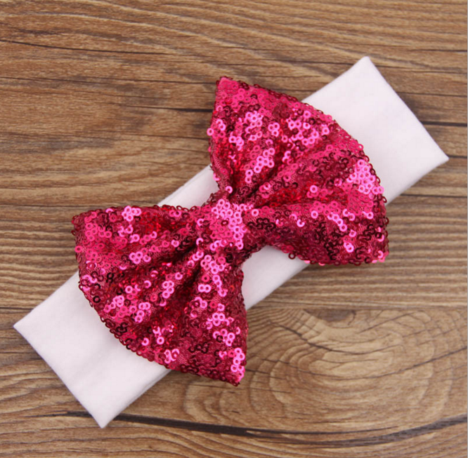 2017 Hot-sales fashion polyester elastic bow hair hoop headband