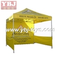 yellow side cover folding 3x3 tent