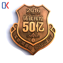 Custom shield shaped blinking enamel bulk lapel pin,metal logo badge