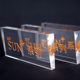 20mm thick lucite plexiglass perspex cube logo advertising riser stand display rectangle acrylic block solid clear