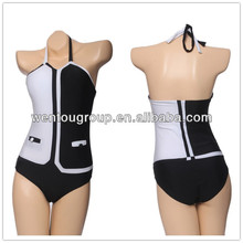 Newest Swimsuit Black White 2014 Tankini Swimwear Sale