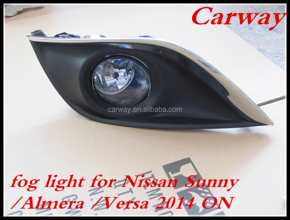 Top quality car fog lamp for Nissan Sunny Versa 2014 ON