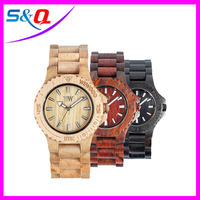 2015 new models waterproof wooden watch man wirst watch