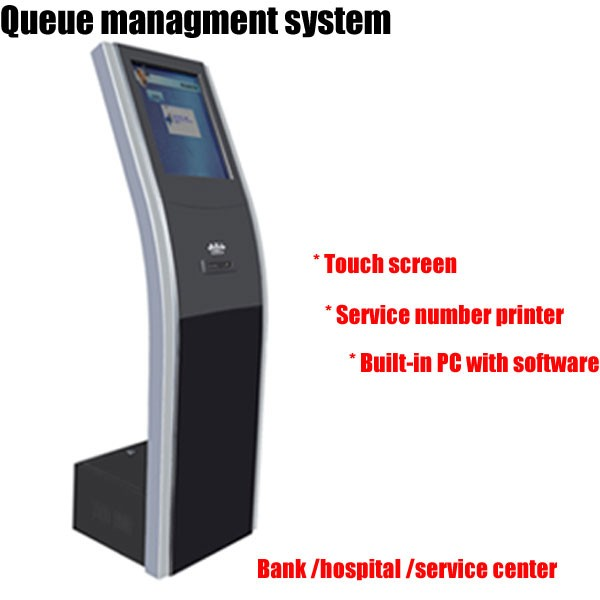 Self-service Queue Management System With IR Touch Screen & Service Calling System