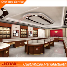 Round jewelry glass display cabinet for jewelry store furniture