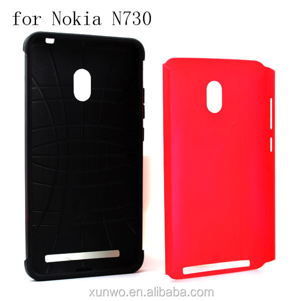 Wholesale silm armor case pc and tpu combo cover for NOKIA lumia 730 mobile phone cover