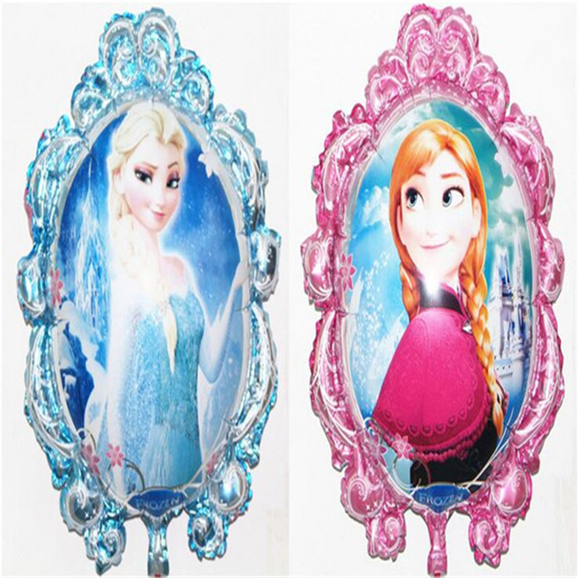 1PCS  Princess Elsa Anna Blue Inflatable Air Cartoon Balloon Foil Balloons Party Supplies Toys Christmas Kid Birthday Decoration
