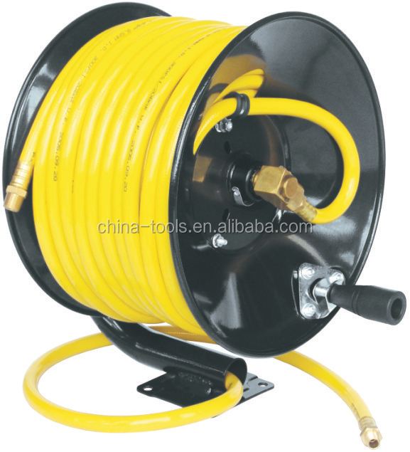 D220 series hand crank manual retractable air/water hose reel