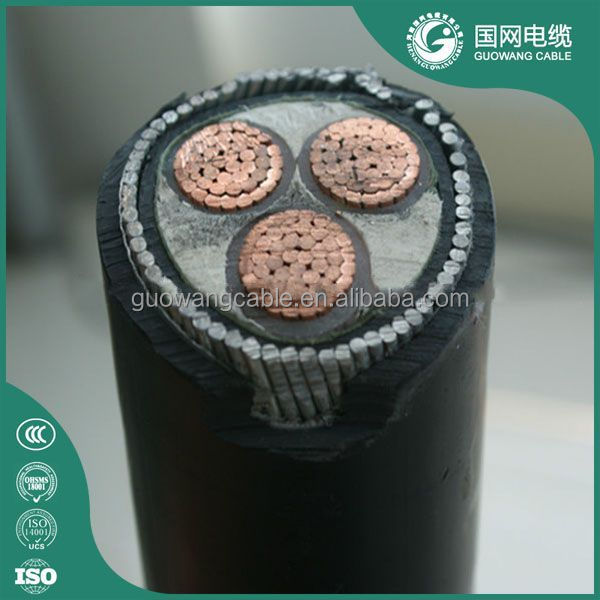 0.6/1kv Yjv22 Xlpe/Pvc Insulated Power Cable 3C 50mm2