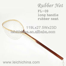 extra long handle rubber fishing landing nets