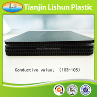 eco-friendly durable black conductive pp corrugated sheet