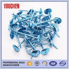 Colored umbrella head roofing nails wholesale nails supply distributors