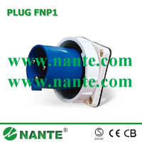 Industrial Plug and Socket 3P, 63A, 125A, Waterproof IP67 Panel Mounted FNP1-533
