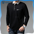 OEM 100% cotton 200 gsm men's long sleeve pocket polo t-shirt