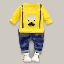 2017 korean fashion for kids cheap new autumn european stylish cotton baby boy sets clothes children's childrens clothing sets