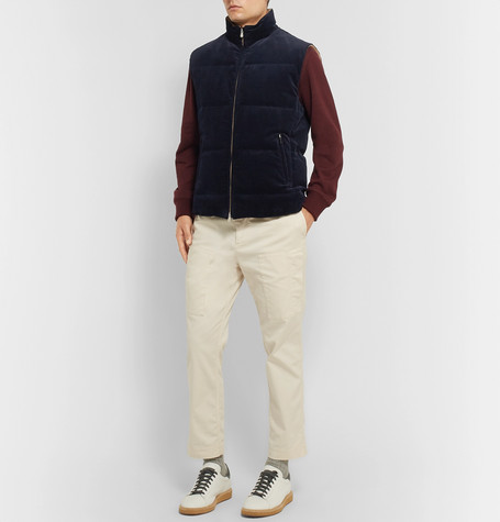 Quilted Cotton-Corduroy Gilet  for men new design