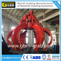 30T Hydraulic motor rubbish orange peel grab for metal scrap