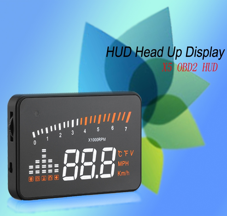 Speed limit device 3 inch X5 HUD heads up display overspeed warning alarm shift reminding