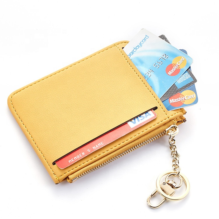 Fashion Mini Zipper Key Bag Car Key Case Holder Genuine Leather Wallet Purse New