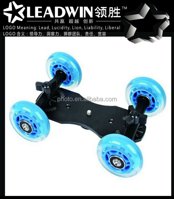 LW-DS04 4-Wheel Table Top Dolly Kit for Photo Video Shooting