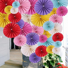 DIY Pinwheel Birthday Party Various of Single Flower Paper Fan Wedding Decoration