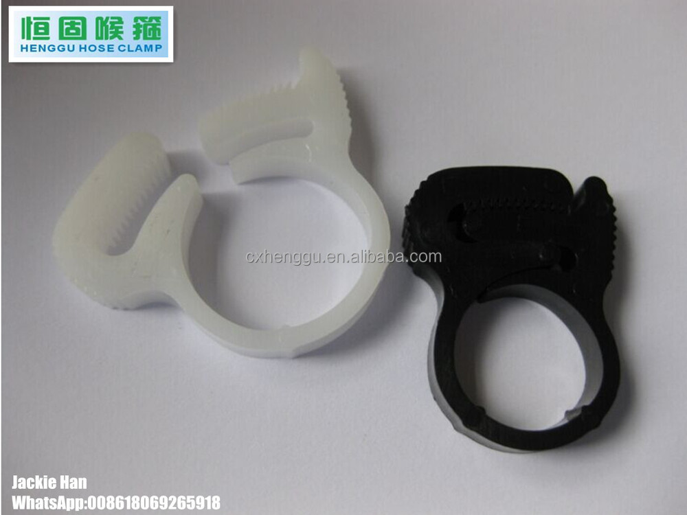 Plastic Hose clamp ABS hose clips Non rusty clip plastic PP 2015 new design hose clips