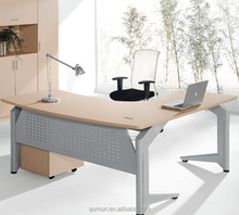 China manufacturer executive office desk with steel leg